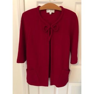 EUC St John Collection Jacket Cardigan Red Size 4